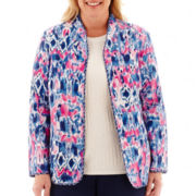 Alfred Dunner® Bon Voyage Reversible Quilted Print Jacket - Plus