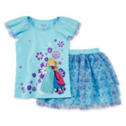 Disney Collection Frozen Top and Skirt Set - Girls 2-10