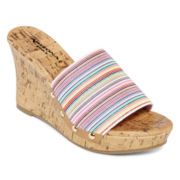 Arizona Laila Single-Band Wedge Sandals