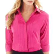 Worthington® 3/4-Sleeve Button-Front Shirt
