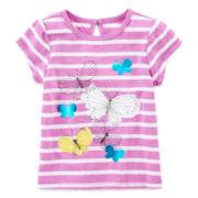 Arizona Short-Sleeve Graphic Knit Tee – Girls 3m-24m