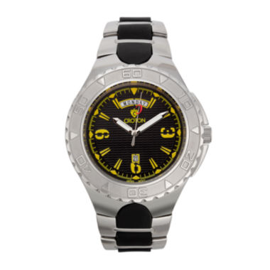 jcpenney.com | Croton Mens Black and Yellow Two-Tone Stainless Steel Watch
