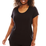 Ambrielle® Short-Sleeve Sleep Top - Plus