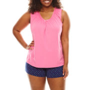 Earth Angels® Tee and Boxer Shorts Pajama Set - Plus