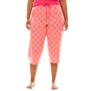 Sleep Chic Printed Sleep Capris - Plus
