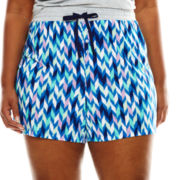 Sleep Chic Printed Pajama Shorts - Plus