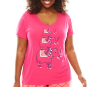 Sleep Chic Short-Sleeve Sleep Tee - Plus