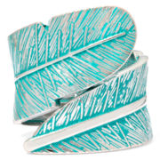 Decree® Silver-Tone Leaf Cuff Bracelet