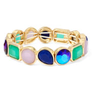 Liz Claiborne® Multicolor Stone Gold-Tone Stretch Bracelet