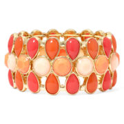 Liz Claiborne® Gold-Tone Orange Stretch Bracelet