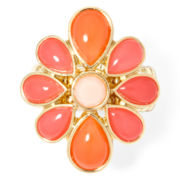Liz Claiborne® Gold-Tone Orange Stretch Ring