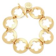 Liz Claiborne® Gold-Tone Openwork Flower Bracelet