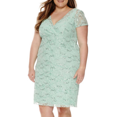jcpenney.com | Scarlett Short-Sleeve Lace Dress - Plus