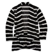 Total Girl® Striped 3/4-Sleeve Cardigan - Girls 7-16 and Plus