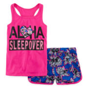 Total Girl® Tank Top and Shorts Pajama Set - Girls 7-16 and Plus