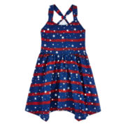 Arizona Americana Sleeveless Jersey Dress - Preschool Girls 4-6x