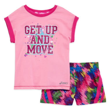 jcpenney.com | Asics® Tee and Shorts Set - Preschool Girls 4-6x