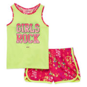 Asics® Tank Top and Shorts Set - Preschool Girls 4-6x