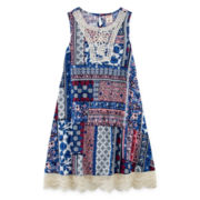 Arizona Sleeveless Patchwork Print Swing Dress - Girls 7-16