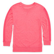 Xersion™ Long Sleeve Mesh Inset Tunic - Girls 7-16 and Plus