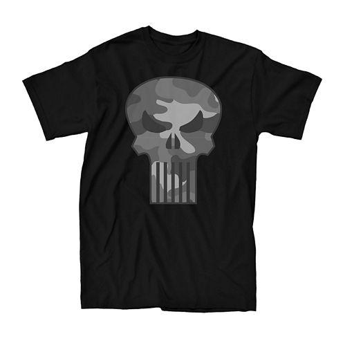 Camo Punisher Short-Sleeve Cotton T-Shirt