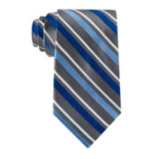 Stafford® Brett Stripe Silk Tie - Extra Long