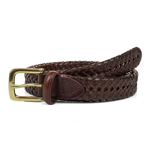 Haggar® Leather Braided Belt