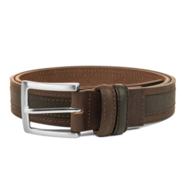 jcpenney.com | Haggar® Leather Two-Tone Stitch Belt