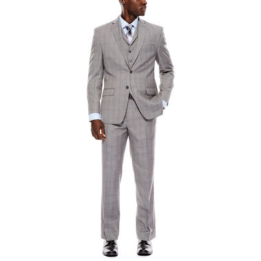 jcpenney.com | Collection by Michael Strahan Light-Gray Plaid Suit Separates - Classic Fit