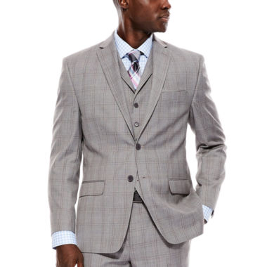 jcpenney.com | Collection by Michael Strahan Light-Gray Plaid Suit Jacket - Classic Fit