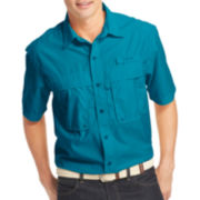 IZOD® Surfcaster Short-Sleeve Woven Button-Front Shirt