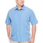The Havanera Co.® Short-Sleeve Geo Placket Shirt - Big & Tall