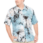 Havanera™ Short-Sleeve Tropical Print Shirt - Big & Tall