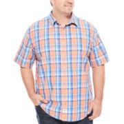 IZOD® Saltwater Short-Sleeve Poplin Shirt - Big & Tall