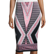 by&by Print Scuba Pencil Skirt