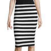 by&by Stripe Textured Knit Pencil Skirt