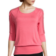 by&by 3/4-Sleeve Blouson Top