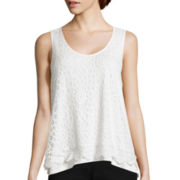 by&by Sleeveless Lace Top