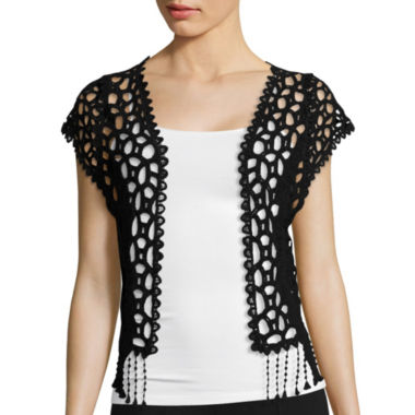 jcpenney.com | Heart & Soul® Short-Sleeve Crochet Top