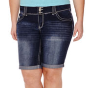 Amethyst Avery Bermuda Shorts - Juniors Plus