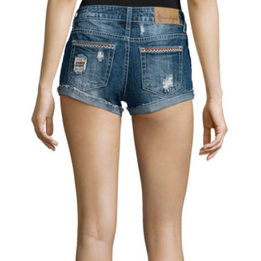 jcpenney.com | Soundgirl Destroyed Raw-Cuff Short Shorts