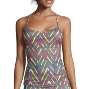 Inspired Hearts Chevron Print Performance Top