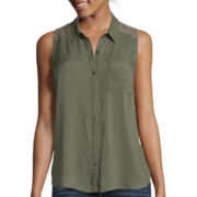 Arizona Sleeveless Button-Front Shirt