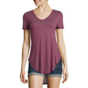 Arizona Circle-Hem Boyfriend Soft Tee - Juniors