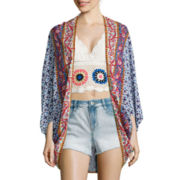 Arizona Long-Sleeve Circle Kimono Top
