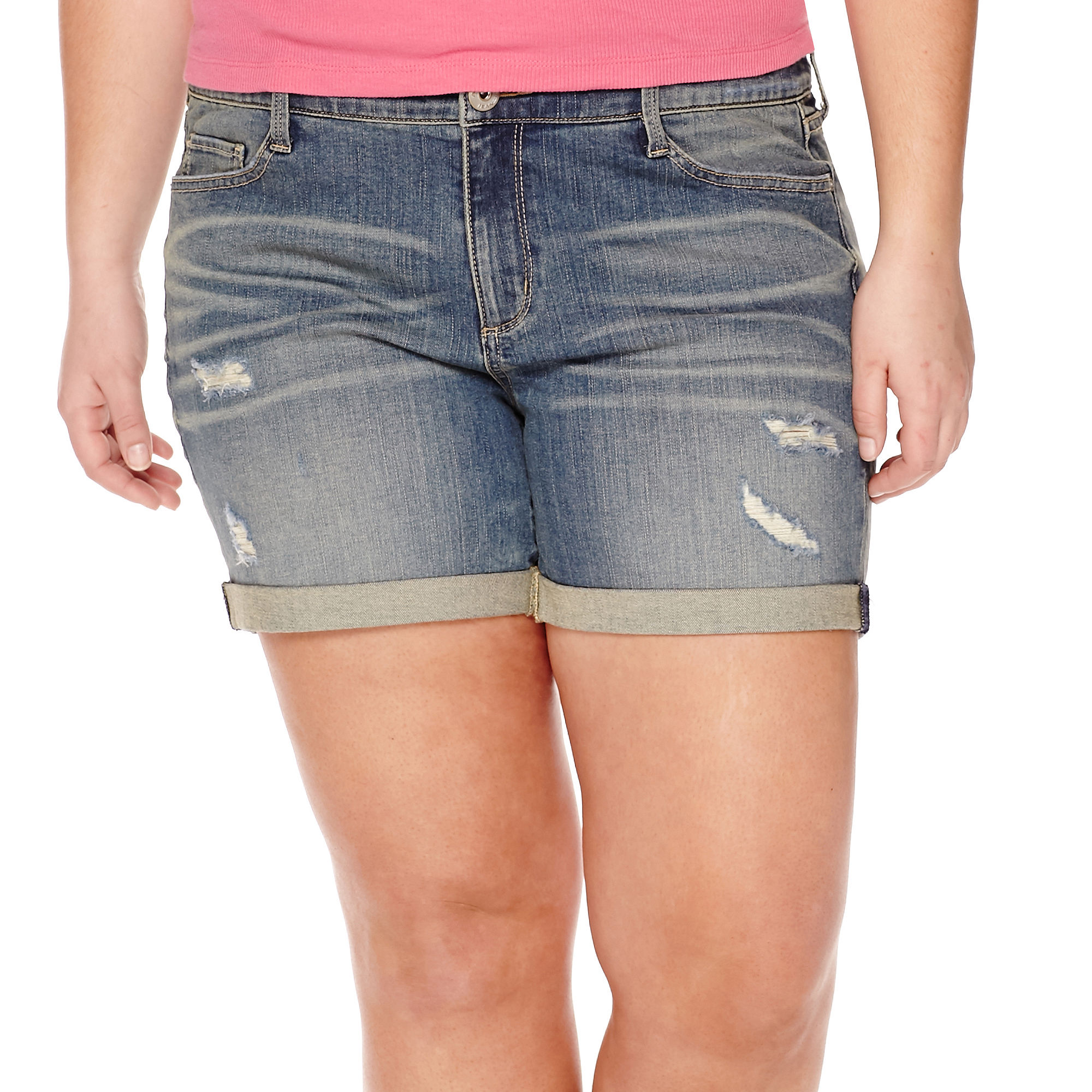 Arizona Midi Shorts - Juniors Plus plus size,  plus size fashion plus size appare
