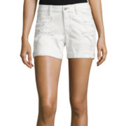 Arizona Low-Rise Boyfriend Fit Denim Shorts