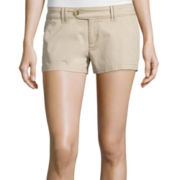 Arizona Cabo Mid-Rise Twill Shorty Shorts
