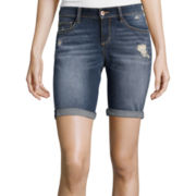 Arizona Destructed Roll-Cuff Bermuda Shorts