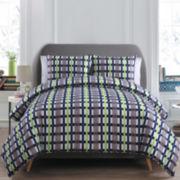 Victoria Classics Evan Reversible Plaid Comforter Set